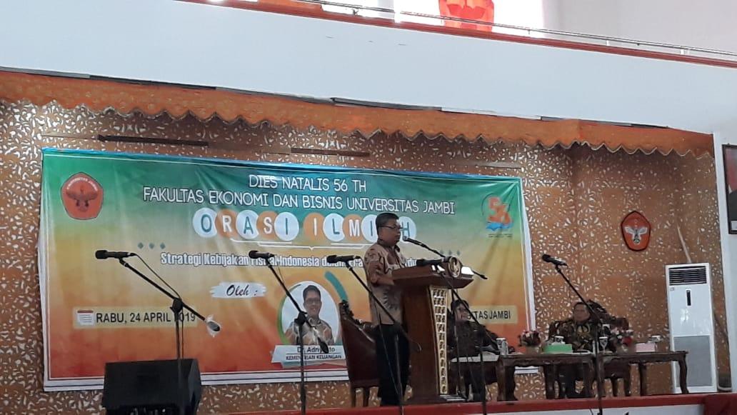 Rektor Membuka Dies Natalis FEB UNJA ke-56, Acara Hari Pertama Diisi dengan Orasi Ilmiah Menkeu dan Seminar Bank Indonesia