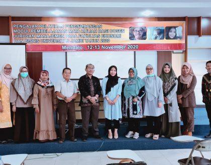 Dekan FEB Membuka Pelatihan Penyusunan Modul  Perkuliahan Jurusan Manajemen